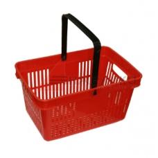 HD-C0124 / Корзина покупательская, 480*320*250, красная, пластм., с одной ручкой