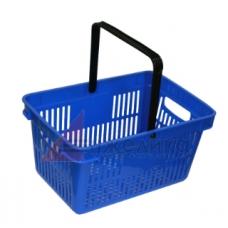 HD-C0124 / Корзина покупательская, 480*320*250, синяя, пластм., с одной ручкой