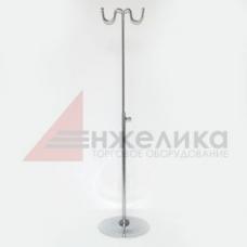 QXM 015 / Стойка настольная 2 крючка / хром