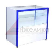 Прилавок (остекленный) 1000*550 мм (синий)