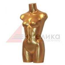 Торс женский (удлиненный) золотой