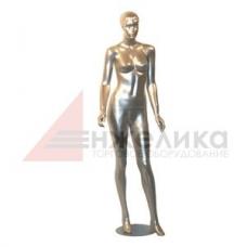 Женский манекен / в полный рост (серебро) / W-029 (ДС)
