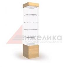 Витрина 2000*500*400 мм. / тумба L-500 мм.,4 полки, подсветка (стекло 6 мм.) (В2)