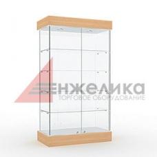 Витрина 2000*1000*400 мм. / 4 полки+подсветка (стекло 6 мм.) (А1)