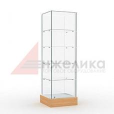 Витрина 2000*500*400 мм. / 4 полки, стекло 6 мм. (В3)