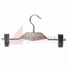 QXB-019 / Зажим (с деревянной вставкой) хром 300мм