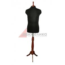 Манекен мужской р.52-54 (нога крас.дерево)/черный