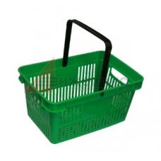 HD-C0124 / Корзина покупательская, 480*320*250, зеленая, пластм., с одной ручкой