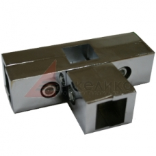 PR 013  Соединитель  25*25 (хром) 4-х труб