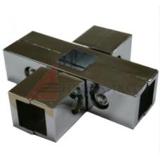PR 014  Соединитель  25*25 (хром)  5-ти труб крестовой