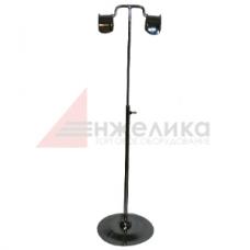 QXM 016 / Стойка настольная 2 крючка / хром