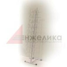 К010 LB-S-M / Реклам.стойка (широкая) белая, 1470 мм,  А3 - 9 шт.