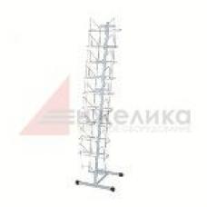 К010 LB-M / Рекламная стойка (узкая) белая, 1470 мм,  А4 - 9 шт.