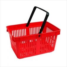 SBP27-RD1H/ Корзина покуп-я пласт.с одной ручкой (27 лит.) красная