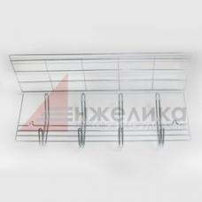 Вешалка 4-х крючковая (цинк) настенная