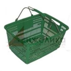 PL-210  / Корзина покупательская пласт.(30 лит.) зеленая