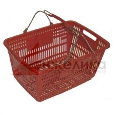 PL-210  / Корзина покупательская пласт.(30 лит.) красная