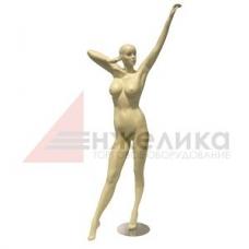 D 4 / Женский манекен / телесный , подставка (металл.)