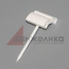 Держатель ценника с основанием-иглой (2 позц., белый пластик) PN101-04