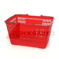 HD-C0109 / Корзина покуп-я пласт.(30 лит.) красная