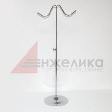 QXM014   Стойка настольная (2 крючка) хром