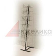 К010 LB-S-M / Реклам.стойка (широкая) п/хром, 1470 мм,  А3 - 9 шт.