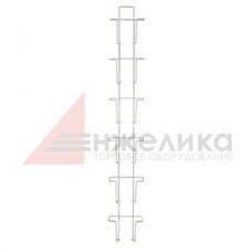 А-24-6  / Навесной дисплей(под хром) д/печат. прод., 906мм,  А6 - 6 шт.