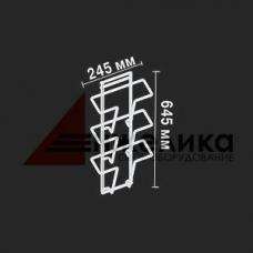 ТК-3 / Навесной дисплей белый(3кармана,формат А-4), 645 мм, А4- 3 шт.