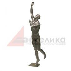 Мужской манекен (серебро) /баскетболист