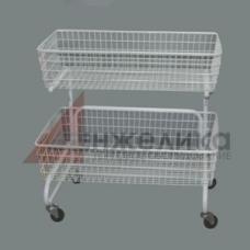 HD-H0112 /Накопитель для распродаж 2-х ур.(красно-белый)