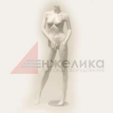 NG 9/1   / Женский манекен / белый глянец/без головы, подставка (металл.)