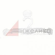 2077 / Плечико бельевое (пластик прозрачный/логотип)