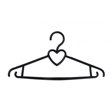 ВП-13 Вешалка-сердце для легкой одежды, 400 м м.